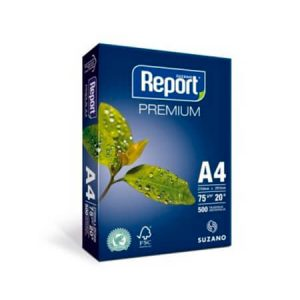 Papel A4 Branco Report (caixa com 10 pacotes)